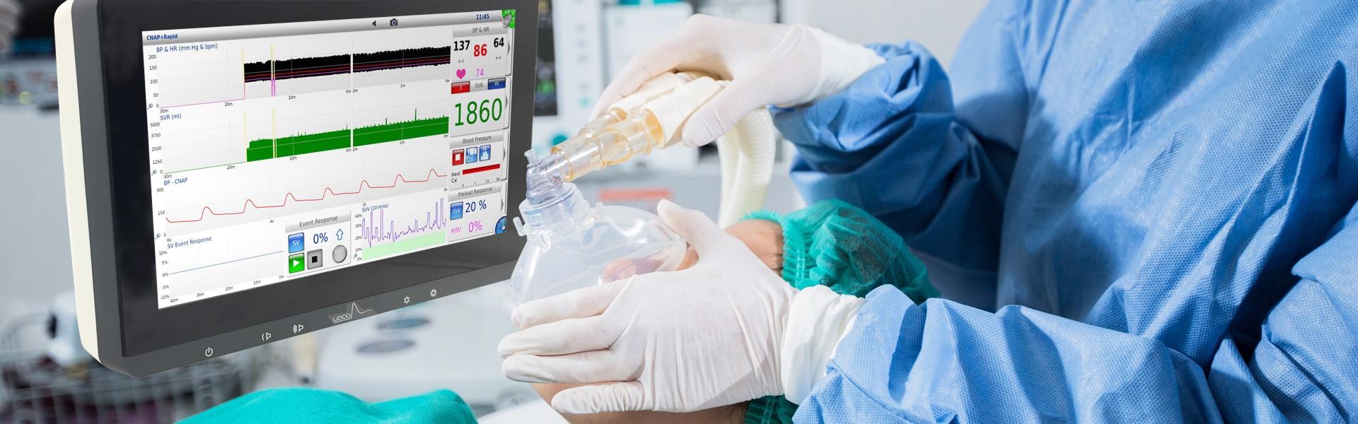 Anesthetist With Lidco Hemodynamic Monitor Lidco Hemodynamic