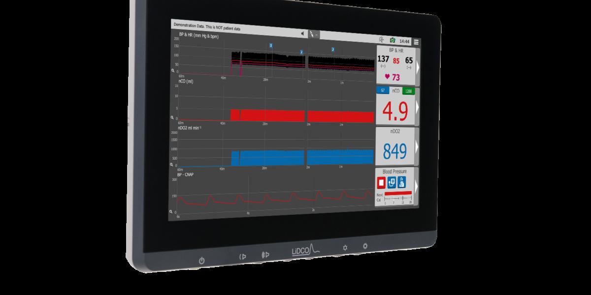 Hemodynamic monitor oxygen delivery night mode image